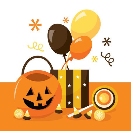 treats: A vector illustration of halloween treats. Illustration