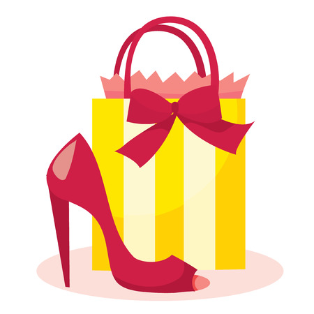 a chic illustration of a girl with shopping bag and holding a rh 123rf com Holiday Shoppers Clip Art Holiday Shoppers Clip Art