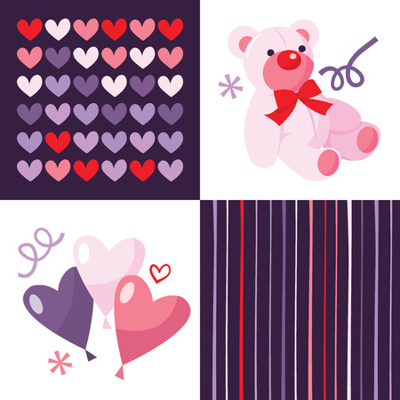 sweetheart: A vector illustration set of four love and sweetheart images. Illustration