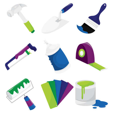 home improvement: A vector illustration of various home improvement or diy related tools.