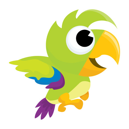 parakeet: A cartoon vector illustration of a cute green parrot.