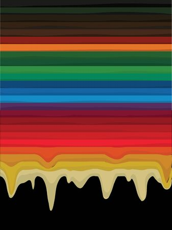 melted: Melted rainbow paint vector background.