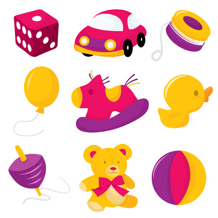 illustration collection: A vector illustration collection of toys and games. Illustration