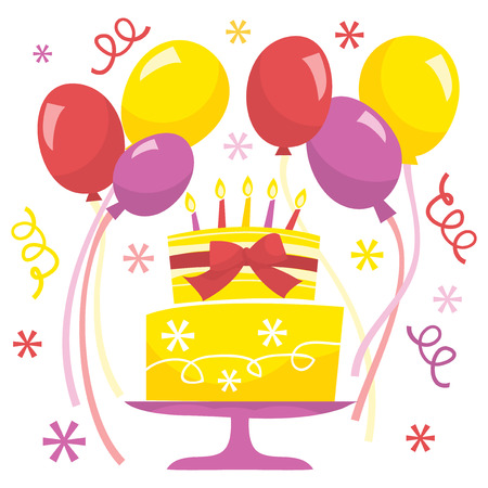 surprise party: A vector illustration of retro birthday surprise party.