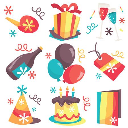suprise: A vector illustration set of retro party surprise elements.