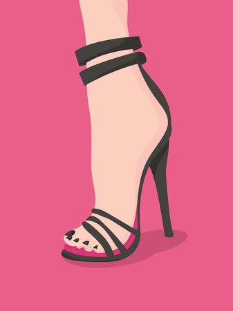 A very super killer high heels fashion vector illustration.
