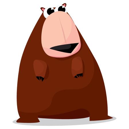 A cute big brown bear cartoon vector illustration. Illusztráció