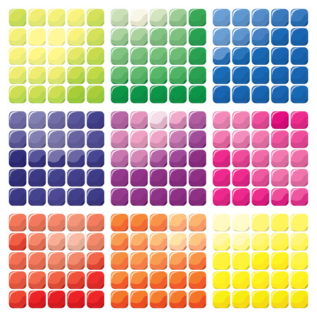 color swatch: A vector illustration set of nine different color mosaic set.