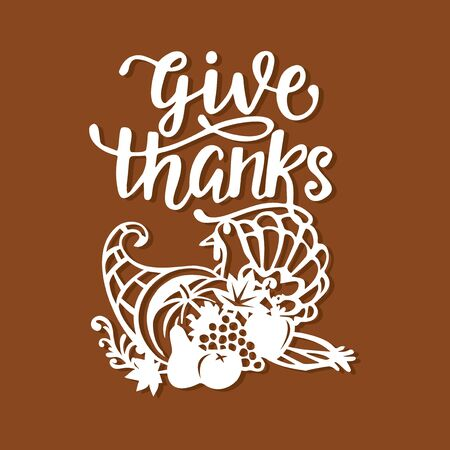 A vector illustration of vintage thanksgiving concept.