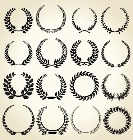 Laurel wreath set Vector