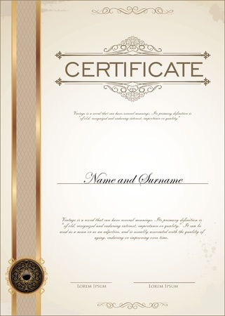 certificate: Certificate template Illustration