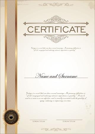 geschenkgutschein: Zertifikatvorlage