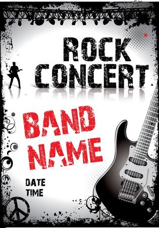 concierto de rock: Música de fondo Vectores