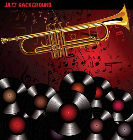 gold record: Jazz background Illustration