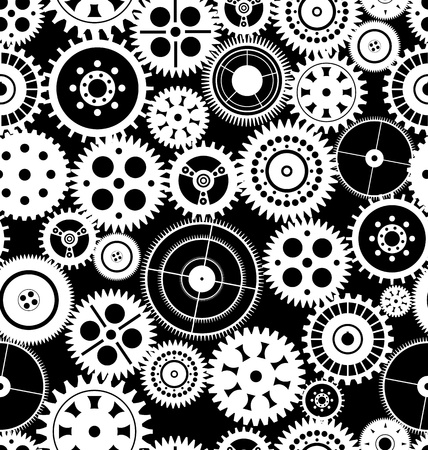 Vector gear seamless background Vector