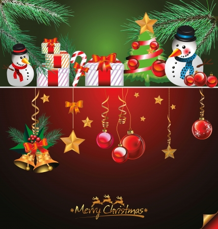 muerdago: Feliz Navidad y feliz a�o nuevo fondo Vectores