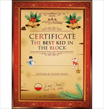 dear: Certificate - the best kid in the block Illustration