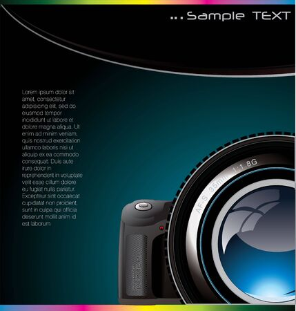 Background with the camera and place for text Vector