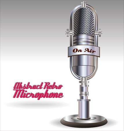 mike: Abstract Retro microphone