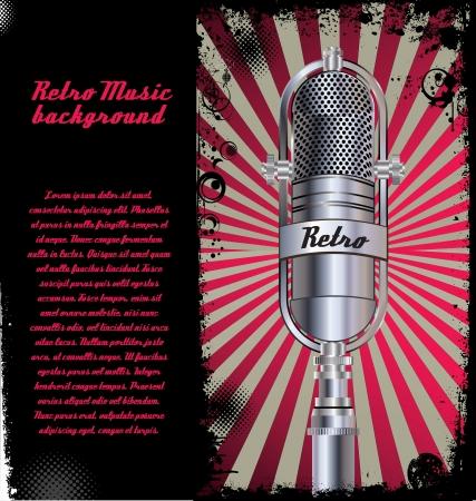 radio microphone: Abstract Retro microphone