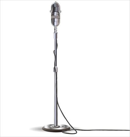 sound system: Old styled microphone vector