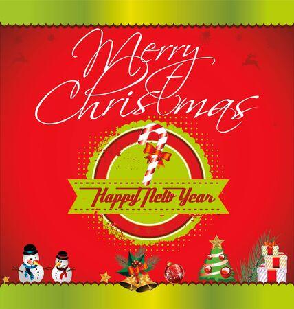 Retro Christmas card Stock Vector - 19051170