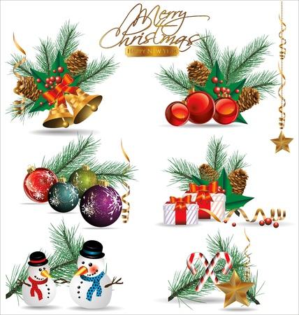 christmas tree ball: Christmas design Illustration