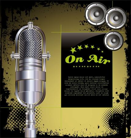 Lokale Radiosender - Grunge-Hintergrund