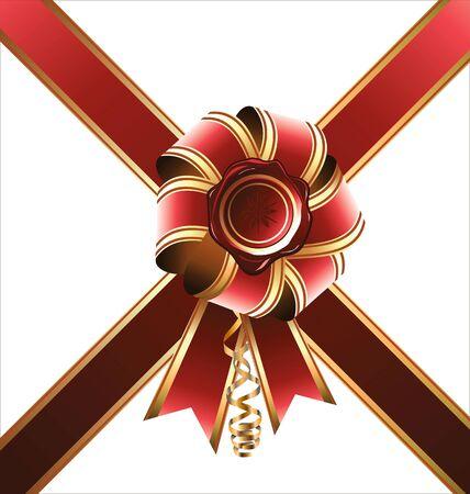 Holiday bow and ribbon, illustration Stock Vector - 19051189