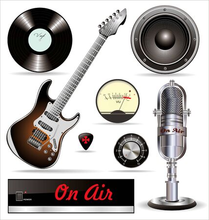 Music Recording Set Vector