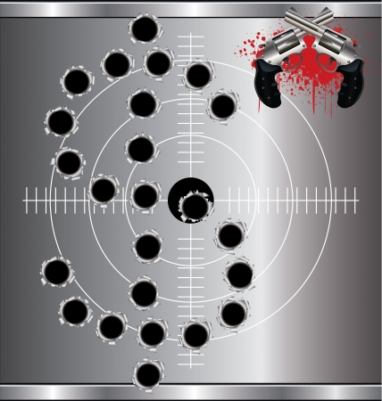gunshot: Bullet holes