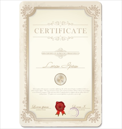 Certificate template  Vector illustration Vector