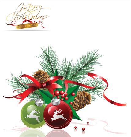 holiday celebrations: Christmas design Illustration
