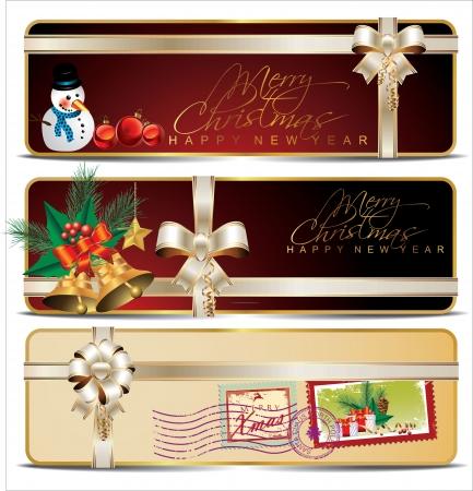 Christmas banner set Stock Vector - 19051448