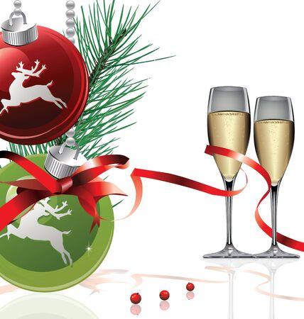 Elegant Christmas and new year background
