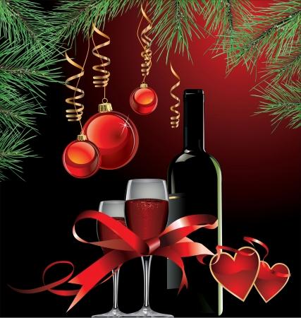 elegant christmas: Elegant Christmas and new year background
