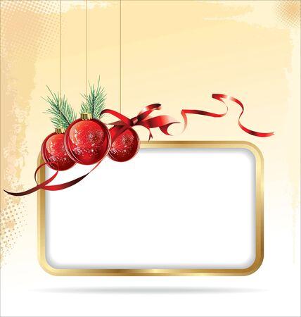 holiday celebrations: Elegant Christmas background Illustration