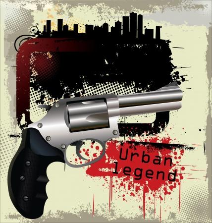 gangster background: Gangster background Illustration