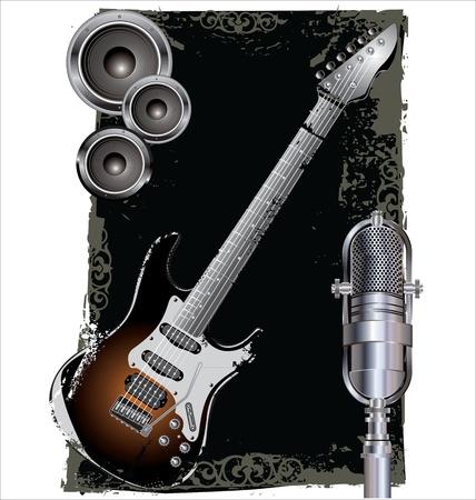 fest: Grunge music background