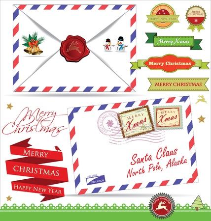 postmark: Brief f�r Santa Claus Illustration