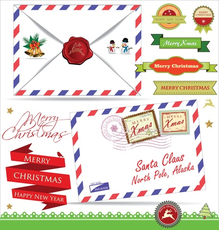 letter from santa: Letter for Santa Claus Illustration