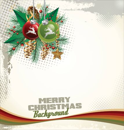 Elegant Christmas and new year background Vector