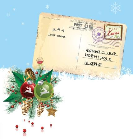 Christmas post card Stock Vector - 19083557