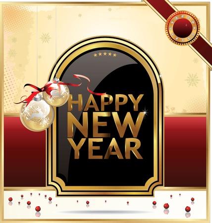 Elegant Christmas card Stock Vector - 19083566