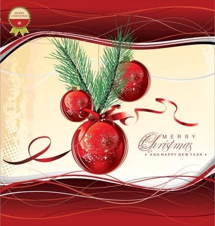 natal: Merry christmas background Illustration