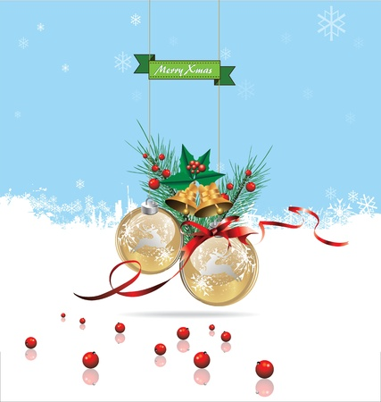 Merry christmas background Stock Vector - 19083489