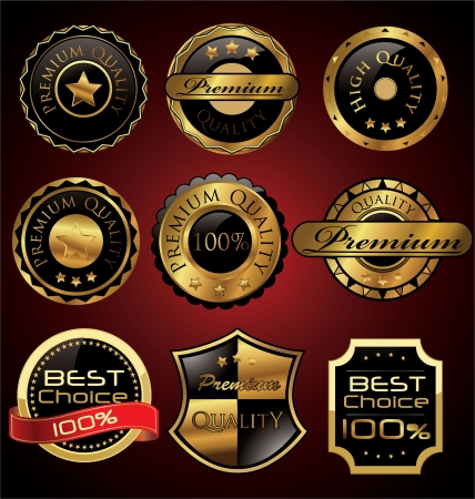 Premium quality label set Vector