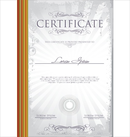 Certificate template Stock Vector - 19083498