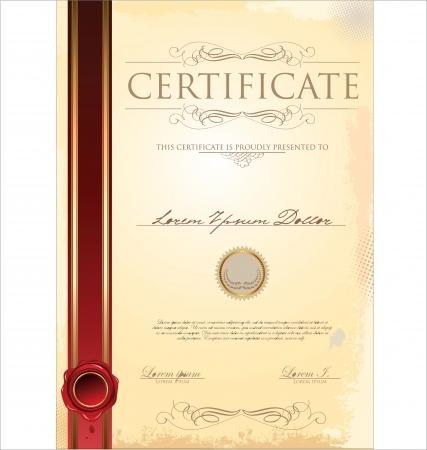 diploma: Certificado de plantilla
