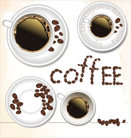 Coffee cup set - vector illustration Vector